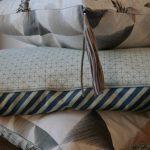 selbgenähte Kissenbezüge aus Baumwollstoff und Paspelband von Stoff & Stil, Endlosreißverschluss von Snaply,