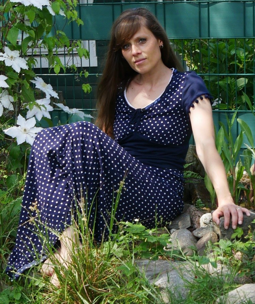 bodenlanges Sommerkleid aus Viscose-Feinkrepp von Stoffolino