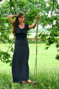 FinasSummerDress Stoffolino Viscose Krepp bodenlanges Sommerkleid