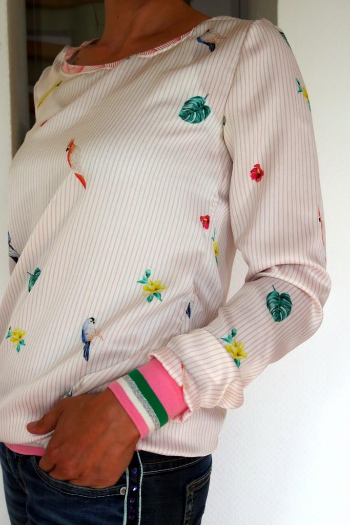 Stoffolino Sommerstoff Polyesta Pullover Lady Rose